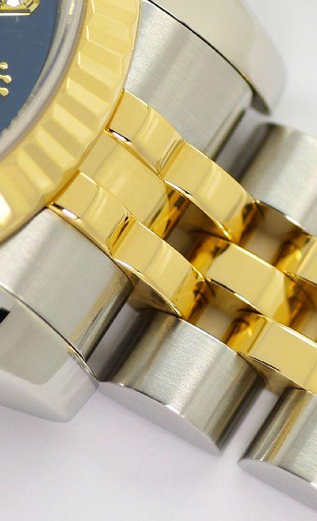Foto 4, Rolex Lady Datejust Stahl-Gold Diamant-Zifferblatt Blau, U2372