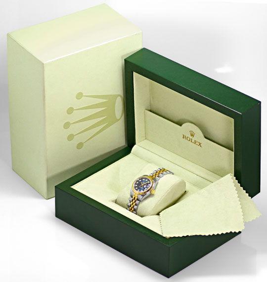 Foto 6, Rolex Lady Datejust Stahl-Gold Diamant-Zifferblatt Blau, U2372