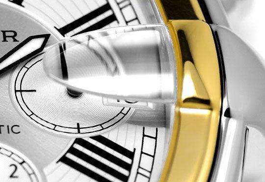 Foto 4, Cartier Roadster Chronograph, Automatik, XL, Stahl-Gold, U2374