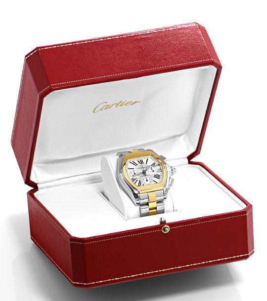 Foto 8, Cartier Roadster Chronograph, Automatik, XL, Stahl-Gold, U2374
