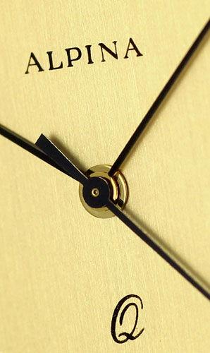 Foto 3, Alpina Gold-Herrenarmbanduhr Datum Sekunde 585 Gelbgold, U2376