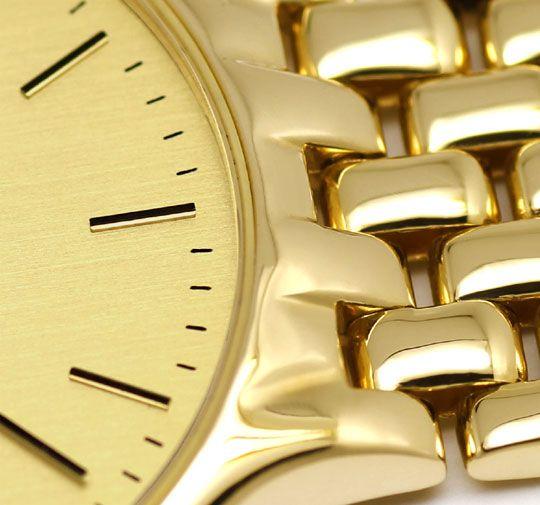 Foto 4, Alpina Gold-Herrenarmbanduhr Datum Sekunde 585 Gelbgold, U2376