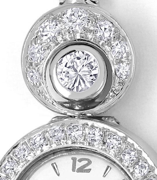 Foto 3, Herva Diamant-Damen-Armbanduhr mit 0,97ct 14K Weissgold, U2381