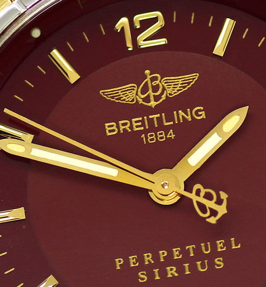 Foto 3, Original Breitling Sirius Stahl-Gold Pilotband Damenuhr, U2388