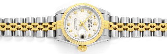 Foto 1, Rolex Damenuhr Datejust Rolesor Jubilee-Band Stahl-Gold, U2397