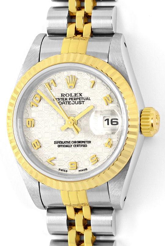 Foto 2, Rolex Damenuhr Datejust Rolesor Jubilee-Band Stahl-Gold, U2397