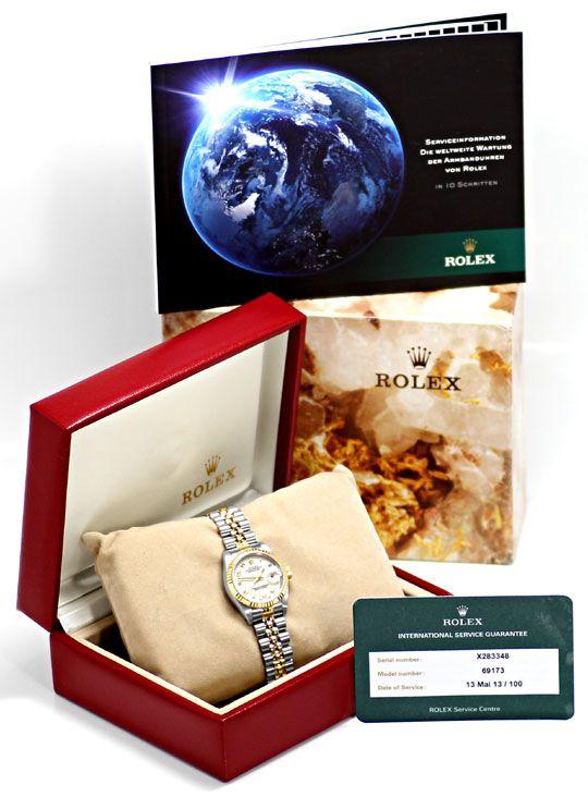 Foto 6, Rolex Damenuhr Datejust Rolesor Jubilee-Band Stahl-Gold, U2397