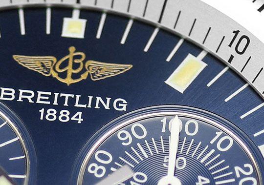Foto 3, Breitling Jupiter Navitimer Pilot Chronograph Alarm usw, U2403
