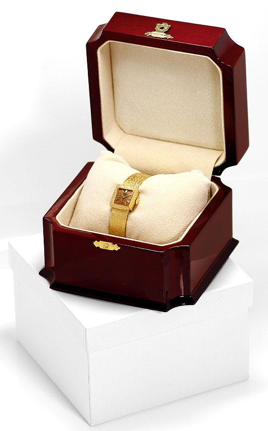 Foto 8, Rolex Damenuhr Holzzifferblatt Handaufzug Milanaise 18K, U2408