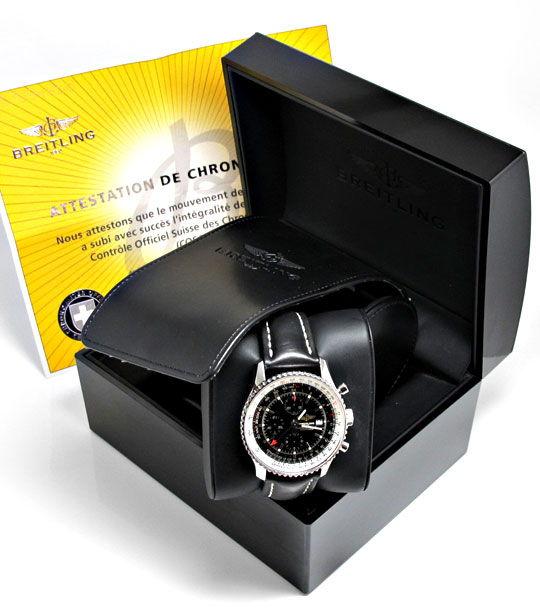 Foto 8, Ungetragene Breitling Navitimer World Chronograph Stahl, U2410