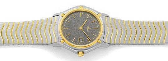 Foto 1, Ebel Sport Classic Classique Wave Junior Stahl Gold Uhr, U2414