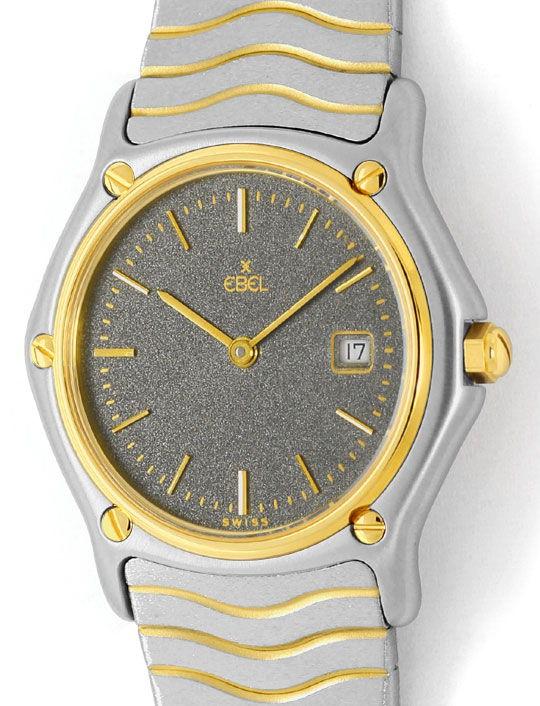 Foto 2, Ebel Sport Classic Classique Wave Junior Stahl Gold Uhr, U2414