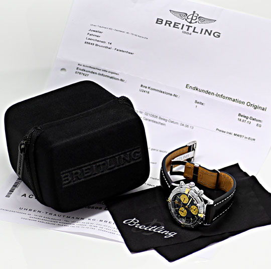Foto 5, Breitling Chrono Sirius Stahlgold Chronograph Herrenuhr, U2416