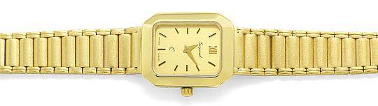 Foto 1, Guepard Damenarmbanduhr Gliederband 14K Gold Neuzustand, U2418