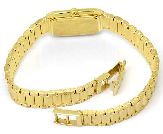 Foto 4, Guepard Damenarmbanduhr Gliederband 14K Gold Neuzustand, U2418