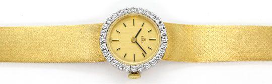 Foto 1, Ebel Damenarmbanduhr 1,12ct Brillanten-Lünette 18K Gold, U2422