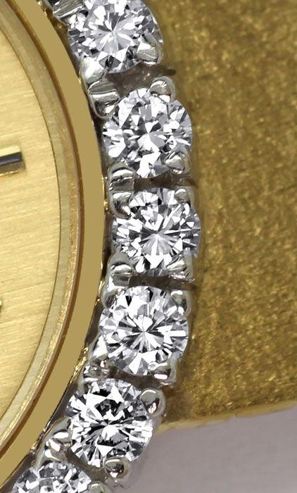 Foto 4, Ebel Damenarmbanduhr 1,12ct Brillanten-Lünette 18K Gold, U2422
