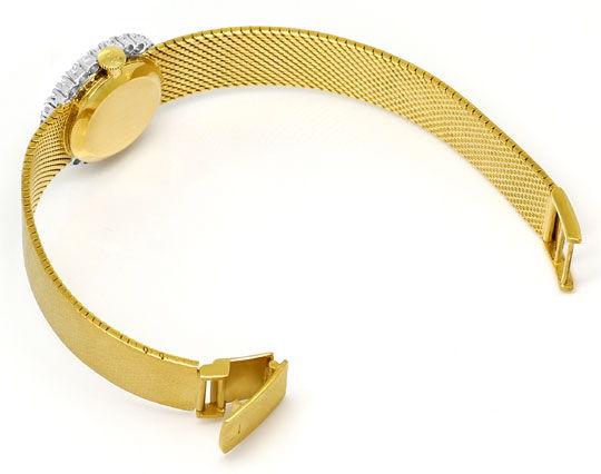 Foto 5, Ebel Damenarmbanduhr 1,12ct Brillanten-Lünette 18K Gold, U2422