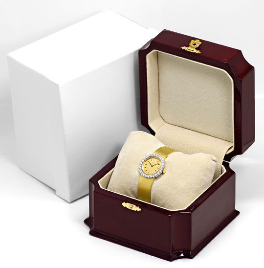 Foto 6, Ebel Damenarmbanduhr 1,12ct Brillanten-Lünette 18K Gold, U2422