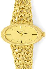Longines Damen-Uhr, Ellipsenform in massiv 18K Gelbgold