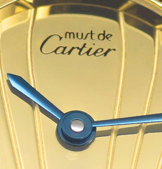 Foto 3, Cartier Colisee Argent Silber Vergoldet Damenarmbanduhr, U2431