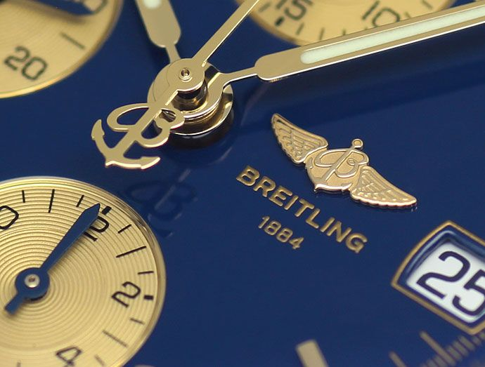 Foto 3, Breitling Chronomat Stahl Gold Rouleaux Band, Herrenuhr, U2448