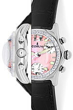 Brillanten Corum Bubble Chronograph Damen rosa Perlmutt