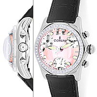 zum Artikel Brillanten Corum Bubble Chronograph Damen rosa Perlmutt, U2526