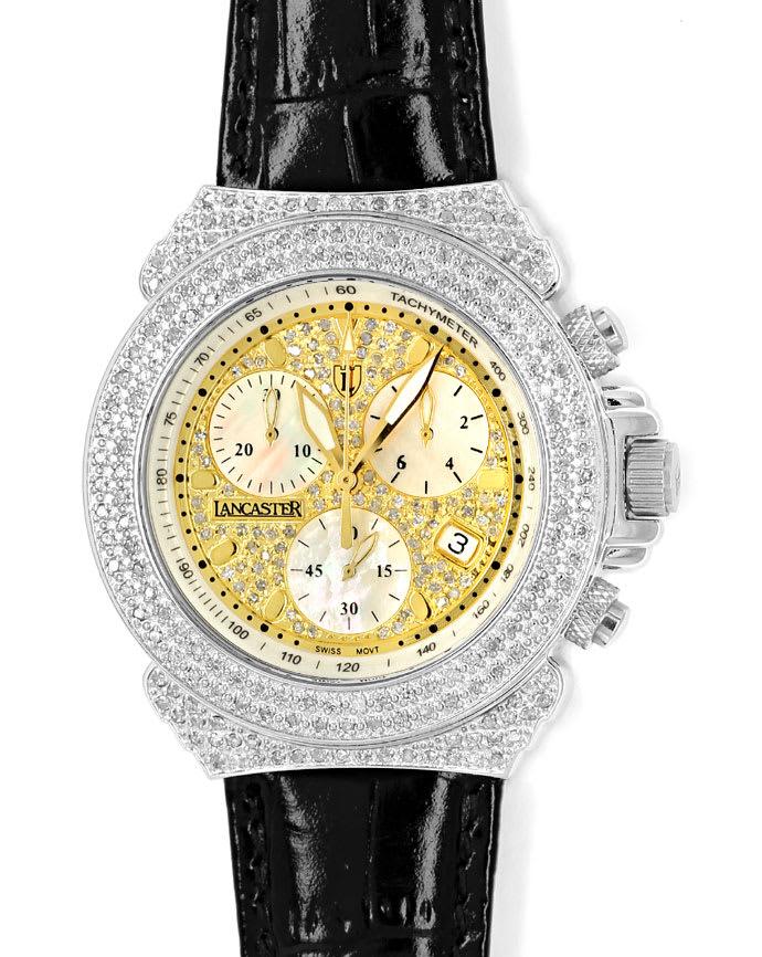 Lancaster Giogio Herren Armbanduhr Mit 2 28ct Diamanten U2542