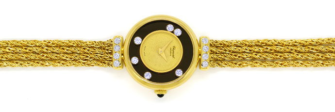 Foto 1 - Chopard Happy Diamonds Damen Uhr 14 Brillanten Gelbgold, U2545