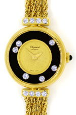 Chopard Happy Diamonds Damen Uhr 14 Brillanten Gelbgold