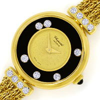 zum Artikel Chopard Happy Diamonds Damen Uhr 14 Brillanten Gelbgold, U2545
