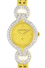 Schabl und Vollmer Damenuhr 0,64ct Diamanten 585er Gold