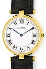Louis de Cartier Ronde Vendom Medium Uhr 750er Gelbgold