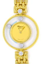 Chopard Happy Diamonds Ronde 5 Brillanten Gold Damenuhr