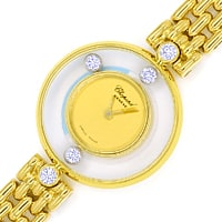 zum Artikel Chopard Happy Diamonds Ronde 5 Brillanten Gold Damenuhr, U2570