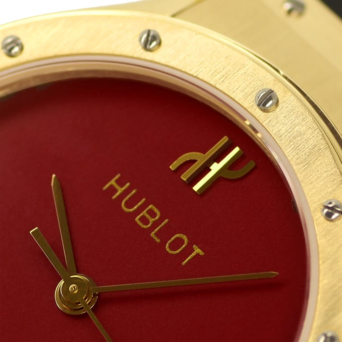 Foto 3, Hublot Classic 32mm Medium Armbanduhr in Gold Kautschuk, U2577