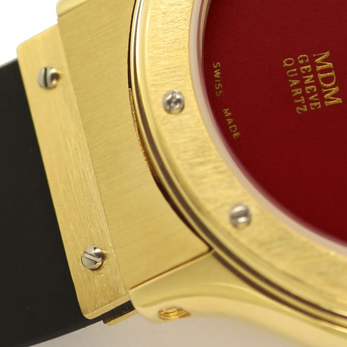 Foto 4, Hublot Classic 32mm Medium Armbanduhr in Gold Kautschuk, U2577