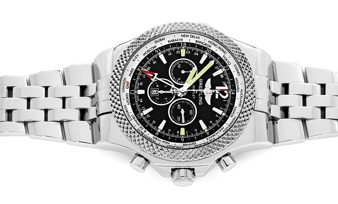 Foto 1 - Breitling Bentley GMT Special Edition Stahl Herrenuhr, U2612