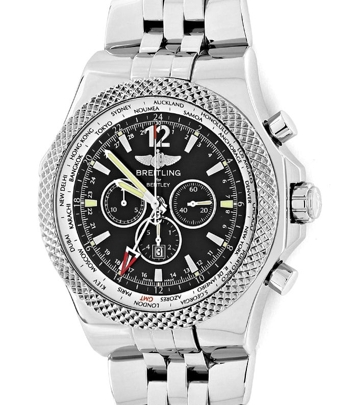 Foto 2 - Breitling Bentley GMT Special Edition Stahl Herrenuhr, U2612