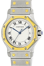 Cartier Santos Ronde Armbanduhr in Stahlgold