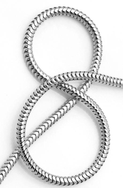 Foto 4, Massive Schlangen Goldkette in 45cm Länge 18K Weissgold, Z0002
