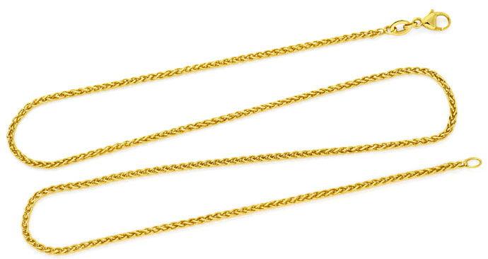 Foto 1, Zopf-Goldkette Zopfkette in 18Karat Gelbgold 46cm Länge, Z0003