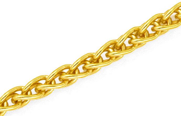 Foto 2, Zopf-Goldkette Zopfkette in 18Karat Gelbgold 46cm Länge, Z0003