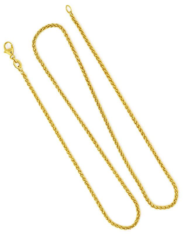 Foto 4, Zopf-Goldkette Zopfkette in 18Karat Gelbgold 46cm Länge, Z0003