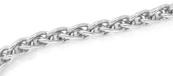 Foto 2, Zopf-Goldkette Zopfkette, 46cm lang, 18 Karat Weissgold, Z0004