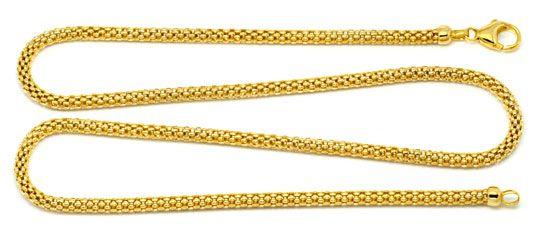 Foto 1, Hochwertige Himbeer Panda Goldkette in 18Karat Gelbgold, Z0005