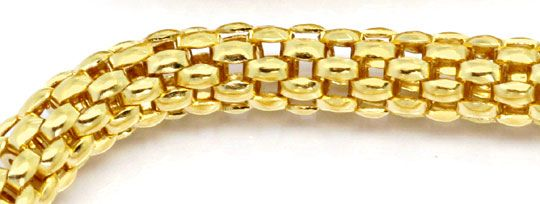 Foto 3, Hochwertige Himbeer Panda Goldkette in 18Karat Gelbgold, Z0005