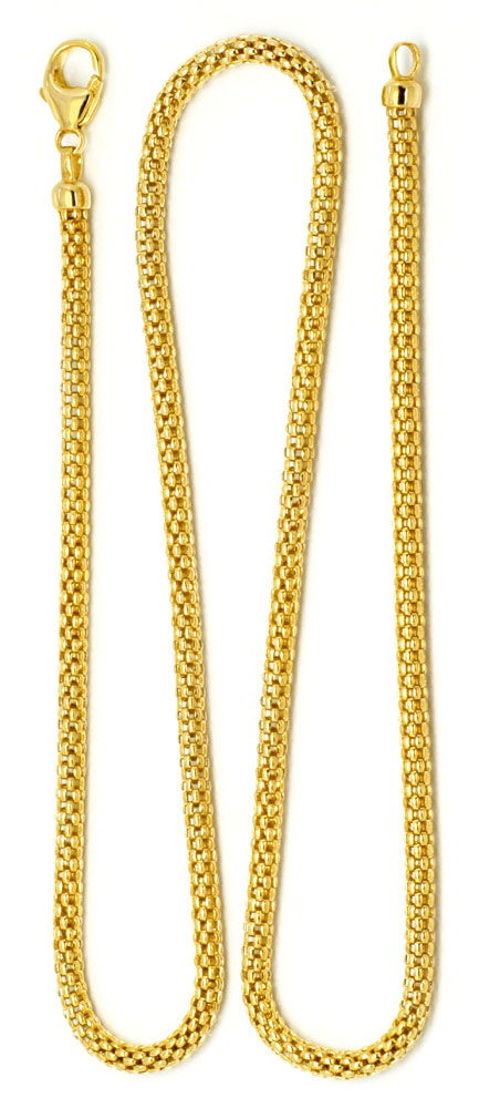 Foto 6, Goldkette hochwertige Himbeer Panda Kette 45cm 18K, Z0005