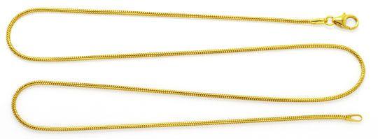 Foto 1, Massive flexible Schlangen Goldkette 45cm, 14K Gelbgold, Z0101